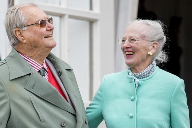 Le prince consort Henrik et la reine Margrethe II de Danemark le 16 avril 2017