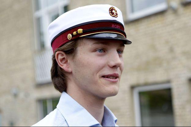 Le prince Felix de Danemark, le jour de l'obtention de son diplôme de fin d'études, le 23 juin 2021