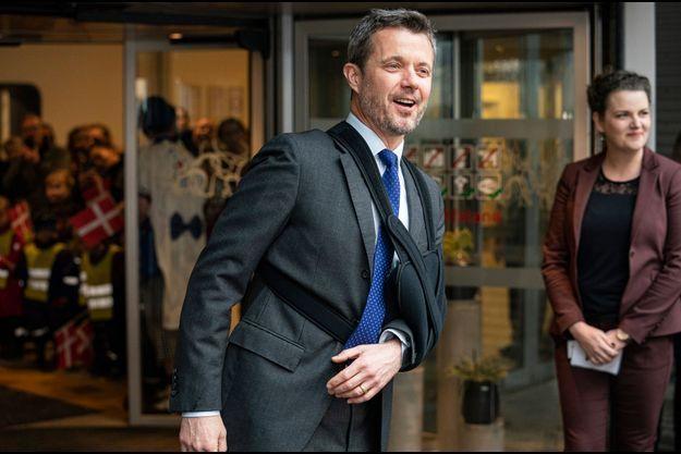 Le prince Frederik de Danemark à Aabenraa, le 20 février 2020