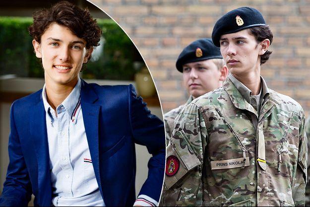Le prince Nikolai de Danemark le 15 août 2018. A gauche, photo officielle de ses 19 ans