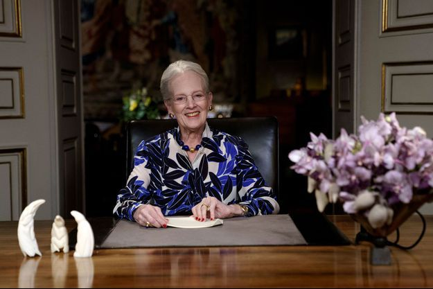 Margrethe II de Danemark après son discours du Nouvel An, jeudi.