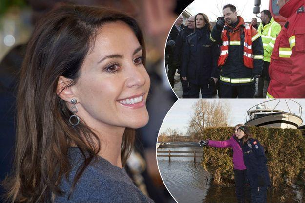 La princesse Marie de Danemark, le 23 novembre 2016. A droite, à Jyllinge le 27 décembre 2016