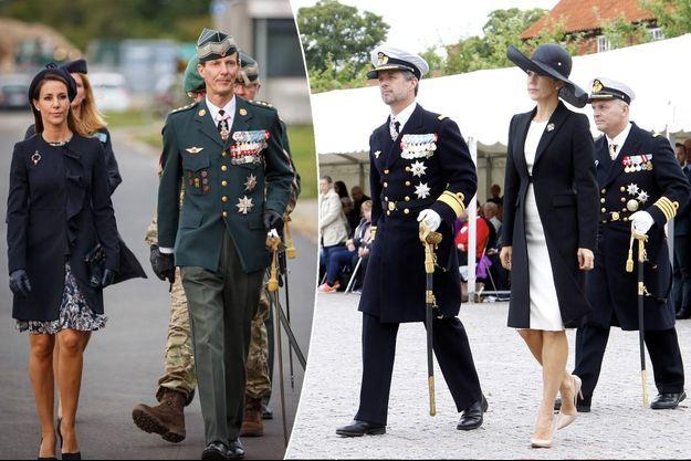 La princesse Marie et le prince Joachim de Danemark à Skive, et la princesse Mary et le prince Frederik de Danemark à Copenhague, le 5 septembre 2017