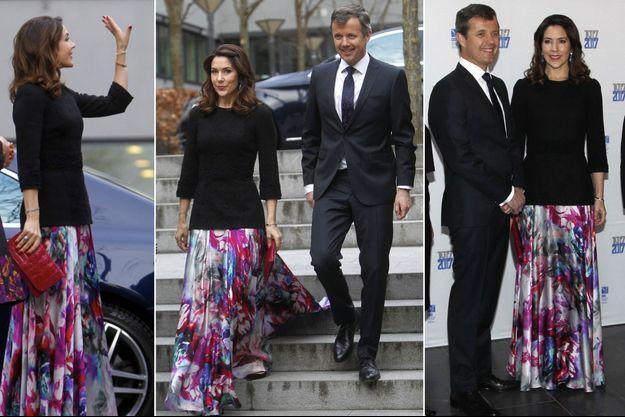 La princesse Mary et le prince Frederik de Danemark à Copenhague, le 24 mars 2017