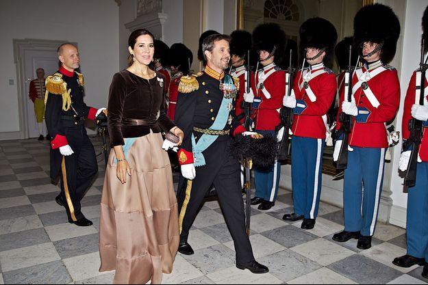 La princesse Mary et le prince Frederik de Danemark à Copenhague, le 4 janvier 2018