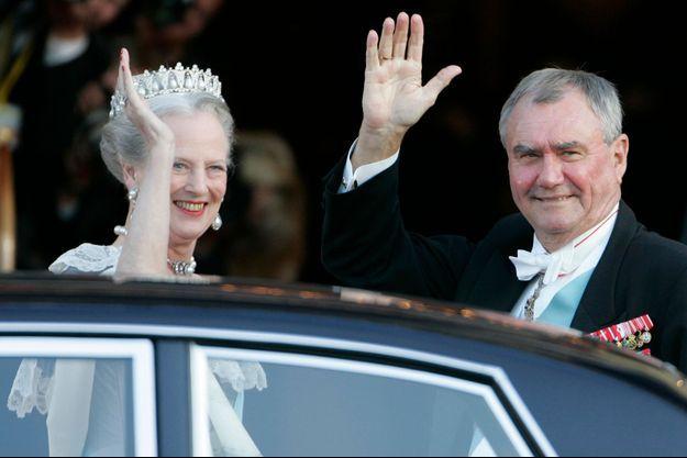La reine Margrethe et le Prince Henrik en mai 2004.