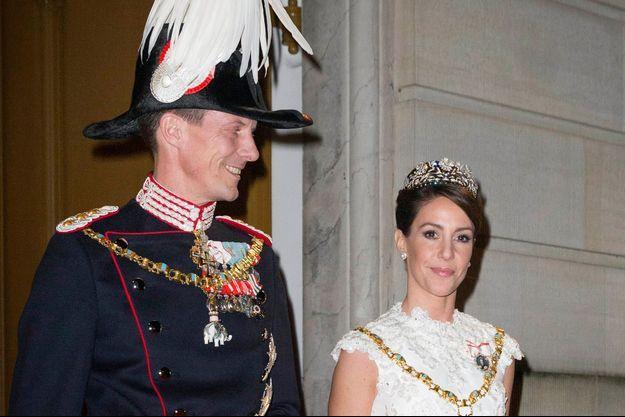 La princesse Marie et le prince Joachim de Danemark à Copenhague, le 1er janvier 2016