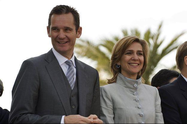 L'infante Cristina et son époux.