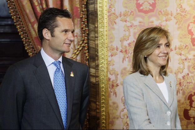 L'Infante Cristina et son époux Inaki Urdangarin en mai 2009.