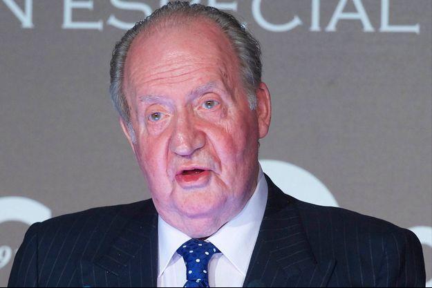 L'ancien roi Juan Carlos d'Espagne à Madrid, le 16 décembre 2014