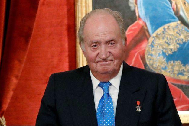 Juan Carlos d'Espagne en 2018 à Madrid.