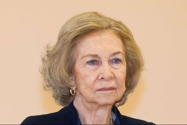 L'ex-reine Sofia d'Espagne à Madrid, le 11 février 2020