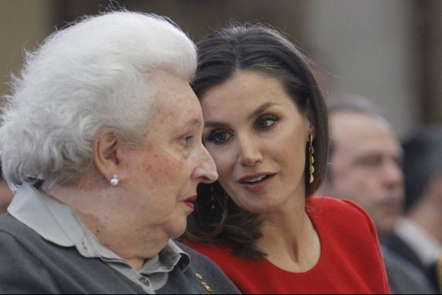L'infante Pilar avec la reine Letizia d'Espagne, le 10 janvier 2019