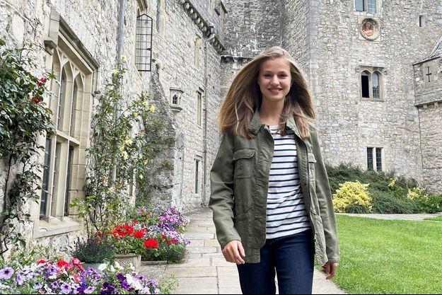 La princesse Leonor d'Espagne au château de Saint-Donat au Pays de Galles, le 30 août 2021