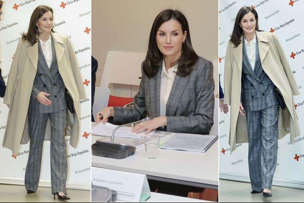 La reine Letizia d'Espagne à Madrid, le 16 janvier 2020