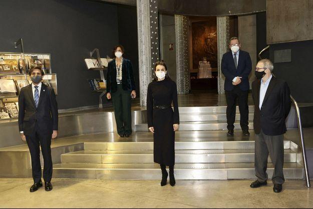 La reine Letizia d'Espagne à Madrid, le 21 janvier 2021