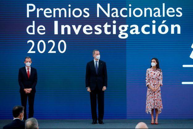 La reine Letizia et le roi Felipe VI d'Espagne à Madrid, le 17 mai 2021