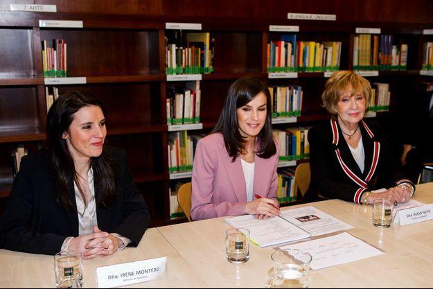 La reine Letizia d'Espagne à Madrid, le 6 mars 2020