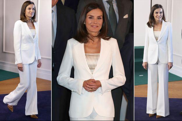 La reine Letizia d'Espagne à Madrid, le 16 mai 2019