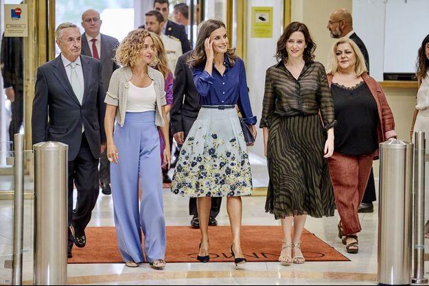 La reine Letizia d'Espagne à Madrid, le 5 septembre 2019