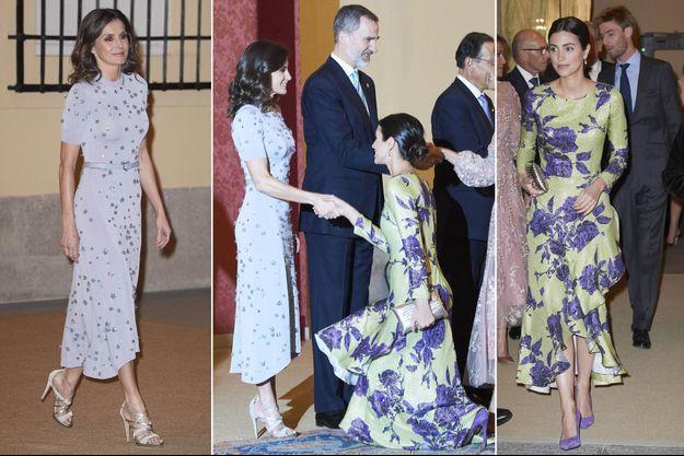 La reine Letizia d'Espagne et Alessandra de Osma, épouse du prince Christian de Hanovre, à Madrid le 28 février 2019