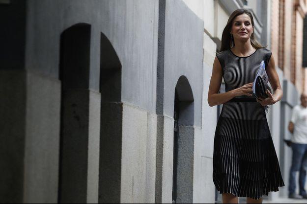 La reine Letizia d'Espagne à Madrid, le 13 juillet 2018
