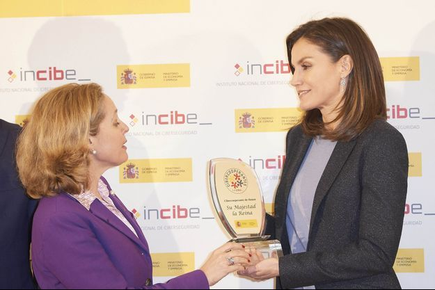 La reine Letizia d'Espagne à Madrid, le 5 février 2019