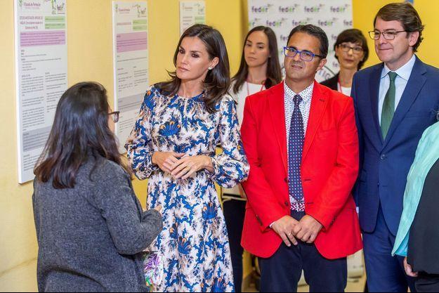 La reine Letizia d'Espagne à Burgos, le 20 septembre 2019