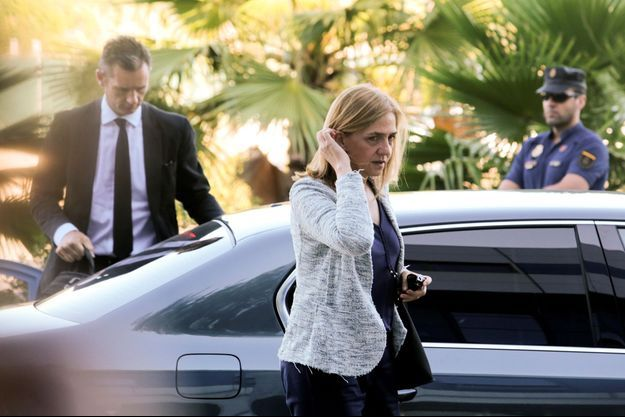 L'infante Cristina d'Espagne et son mari Inaki Urdangarin à leur arrivée pour le dernier jour du procès de l'affaire Noos à Palma de Majorque, le 22 juin 2016