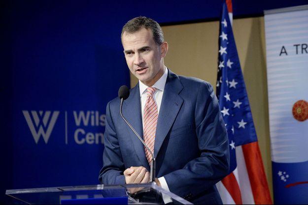 Le roi d'Espagne Felipe VI, en visite à Washington.
