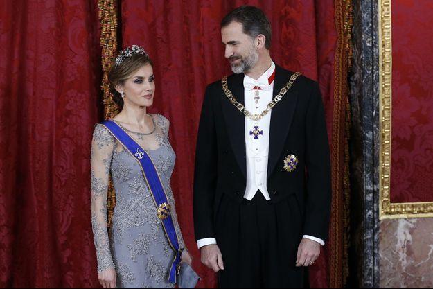 Le roi Felipe VI d'Espagne et la reine Letizia, le 2 mars dernier.