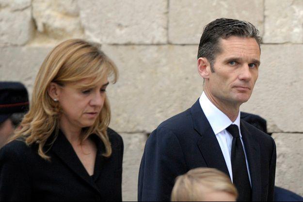 L'infante Cristina et son mari Iñaki Urdangarin en 2012