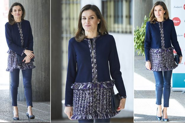La reine Letizia d'Espagne à Madrid, le 20 mars 2018