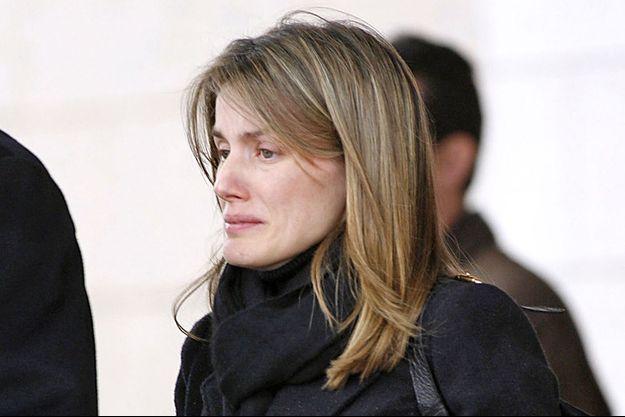 Letizia lors des funérailles de sa soeur en février 2007.