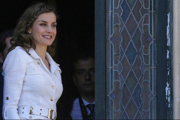 La reine Letizia d'Espagne à Tenerife, le 25 avril 2017