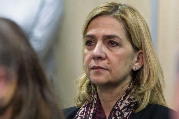 L'infante Cristina d'Espagne lors de son procès à Palma de Majorque, le 11 janvier 2016
