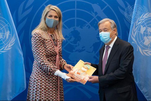 La reine Maxima des Pays-Bas le 24 septembre 2021 à l'ONU.