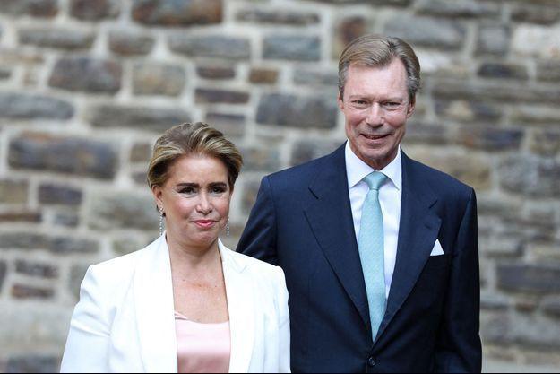 La grande-duchesse Maria Teresa et le grand-duc Henri de Luxembourg, le 20 septembre 2020