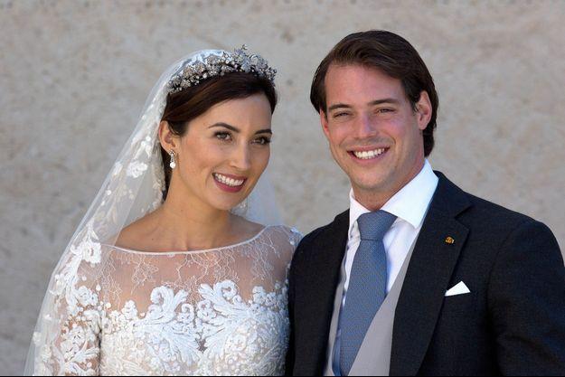 Felix de Luxembourg et Claire lors de leur mariage