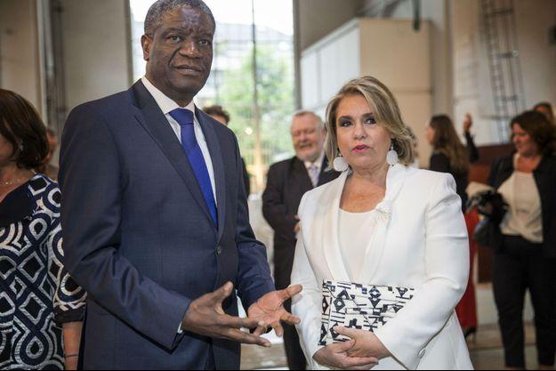 Son Altesse Royale la Grande-Duchesse avec le Docteur Denis Mukwege, président de la « Dr. Denis Mukwege Foundation ».