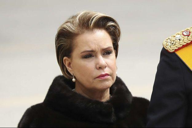 Maria Teresa de Luxembourg, lors des funérailles du Grand Duc Jean, le 4 mai 2019.