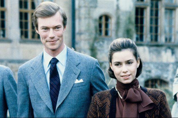 Photo prise pour les fiançailles du prince Henri de Luxembourg et de Maria Teresa Mestre, en novembre 1980