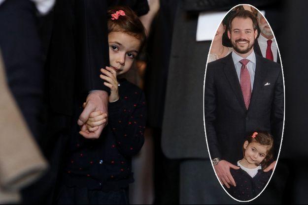 La princesse Amalia et son père le prince Félix de Luxembourg à Luxembourg, le 26 novembre 2019