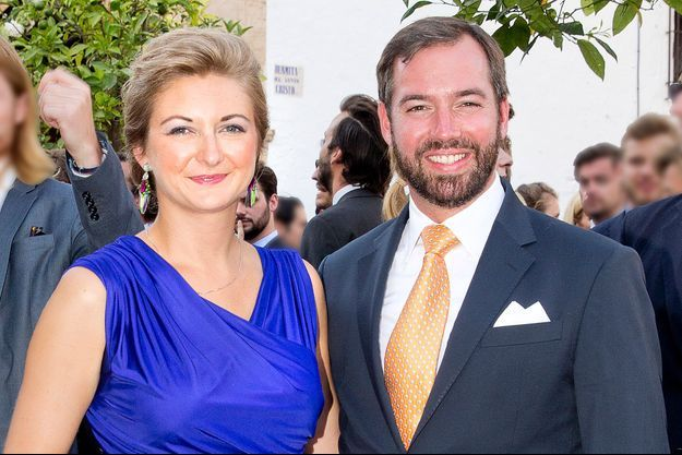 La princesse Stéphanie et le prince Guillaume de Luxembourg, le 2 septembre 2017
