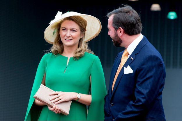La princesse Stéphanie et le prince Guillaume de Luxembourg, le 23 mai 2018