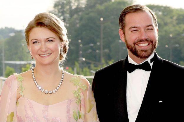 La princesse Stéphanie et le prince Guillaume de Luxembourg à Luxembourg, le 24 mai 2018