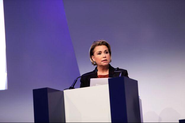 La grande-duchesse Maria-Teresa de Luxembourg à Paris, le 16 novembre 2018