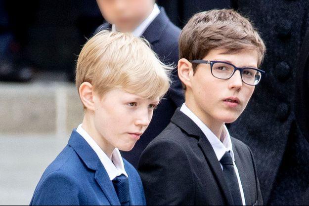 Les princes Gabriel et Louis de Luxembourg, le 4 mai 2019
