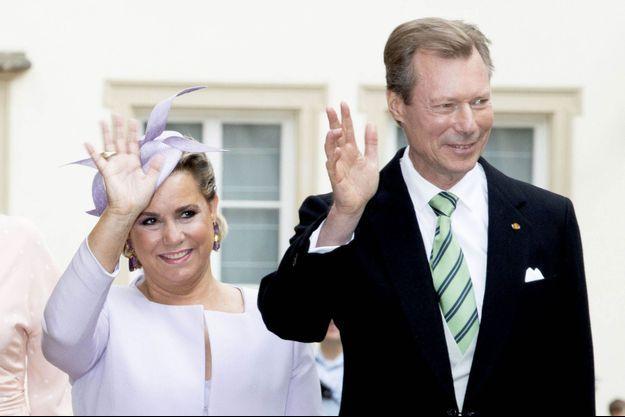 La grande-duchesse Maria Teresa et le grand-duc Henri de Luxembourg, le 23 juin 2018