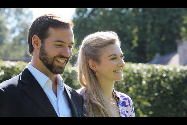 Le prince Guillaume, Grand-Duc héritier du Luxembourg, et la comtesse Stéphanie de Lannoy au Chateau d'Avaing.